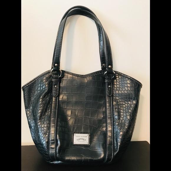 1ba087cf1a Tommy Hilfiger Bags | Croc Faux Leather Bag | Poshmark